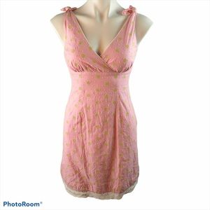 Lilly Pulitzer sz 0 pink green eyelet dress